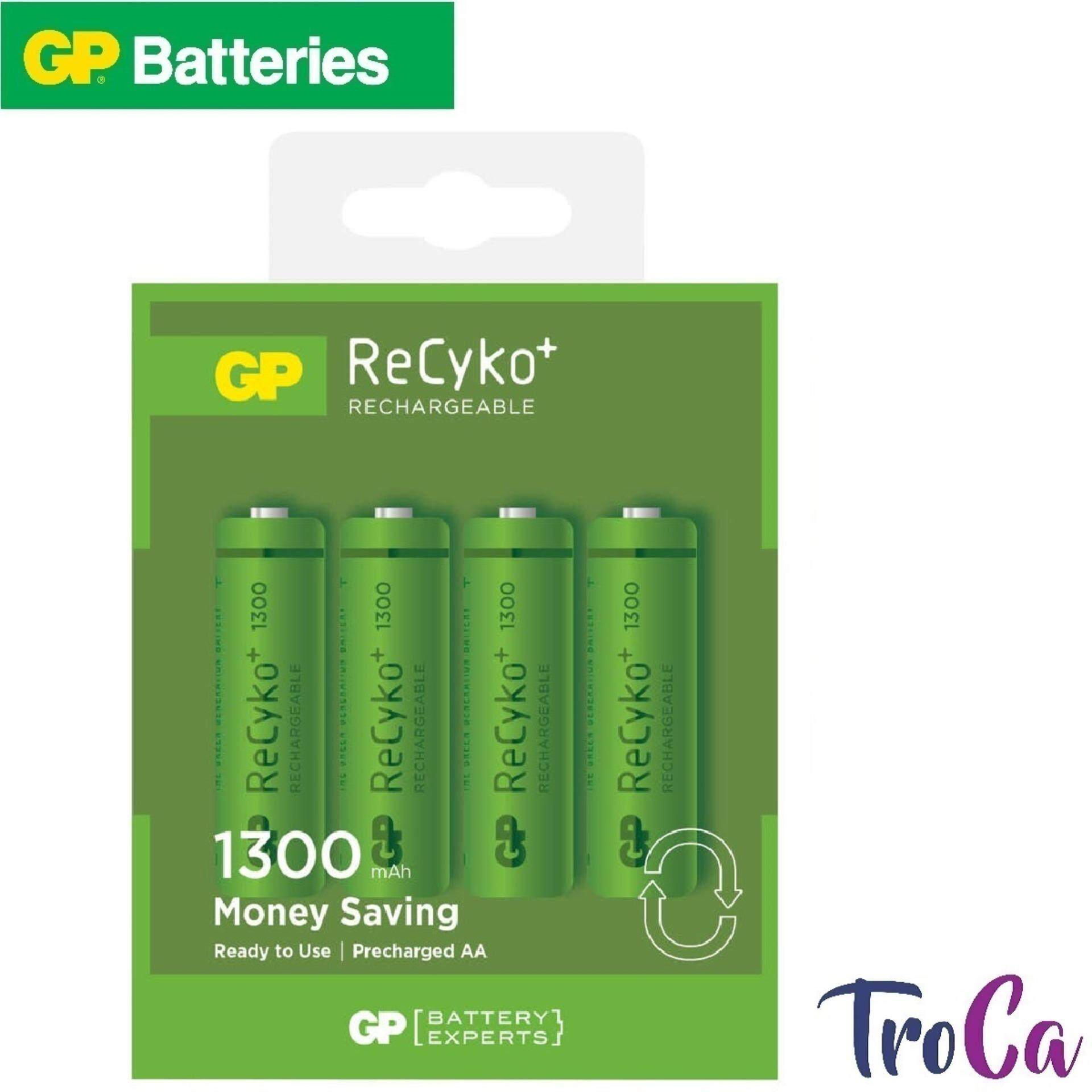 GP RECYKO+ Rechargeable Battery 4pcs AA 1300mAh Malaysia
