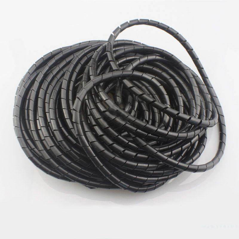3D Printer Flame retardant 15M Length 6mm Black spiral Wrapping Cable casing Cable Sleeves Winding pipe wrapping band