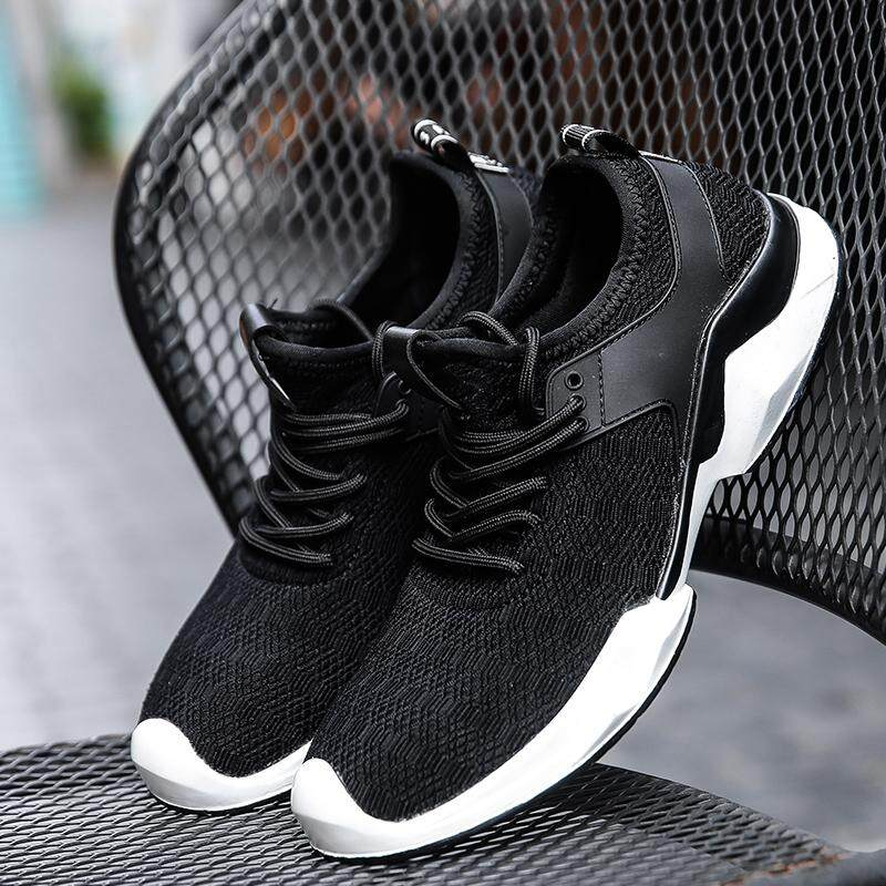 0a99730fff838 Men Jogging Running Shoes Outdoor Sport Sneakers Casual Breathable Trainers  Flat Boots White