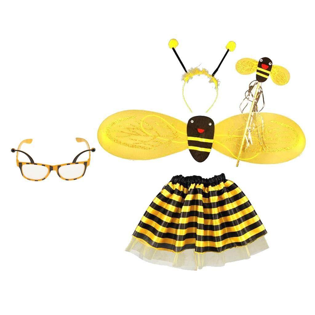 Magideal 5 ชิ้นบัมเบิ้ลบีน้ำผึ้งเด็กหญิงเด็ก Fairy แต่งตัวฮาโลวีนชุดงานปาร์ตี้ - Intl By Magideal.