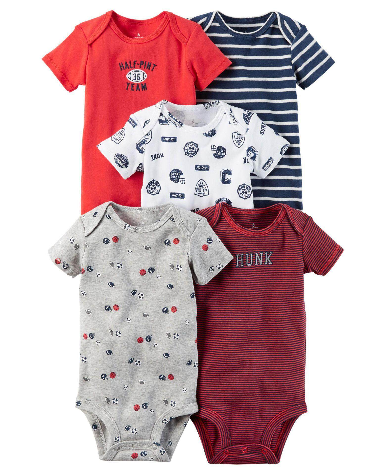 cb1d6fb6e 5PCS Set Summer Baby Clothes Baby Girl Clothes Sets Short Sleeve Cotton  Printed Rompers Baby Rompers
