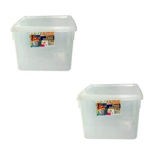 (LZ) 3.5 Lit Toyogo 31 series 82 Diamond Container Set of 2