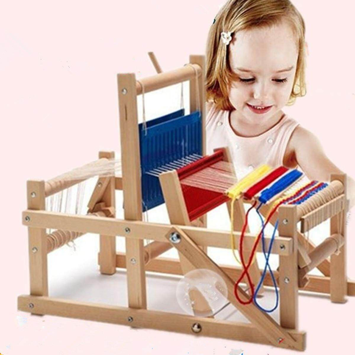 Wooden Traditional Weaving Loom Educational Craft Baby Art Toys High Quality By Elec Mall.