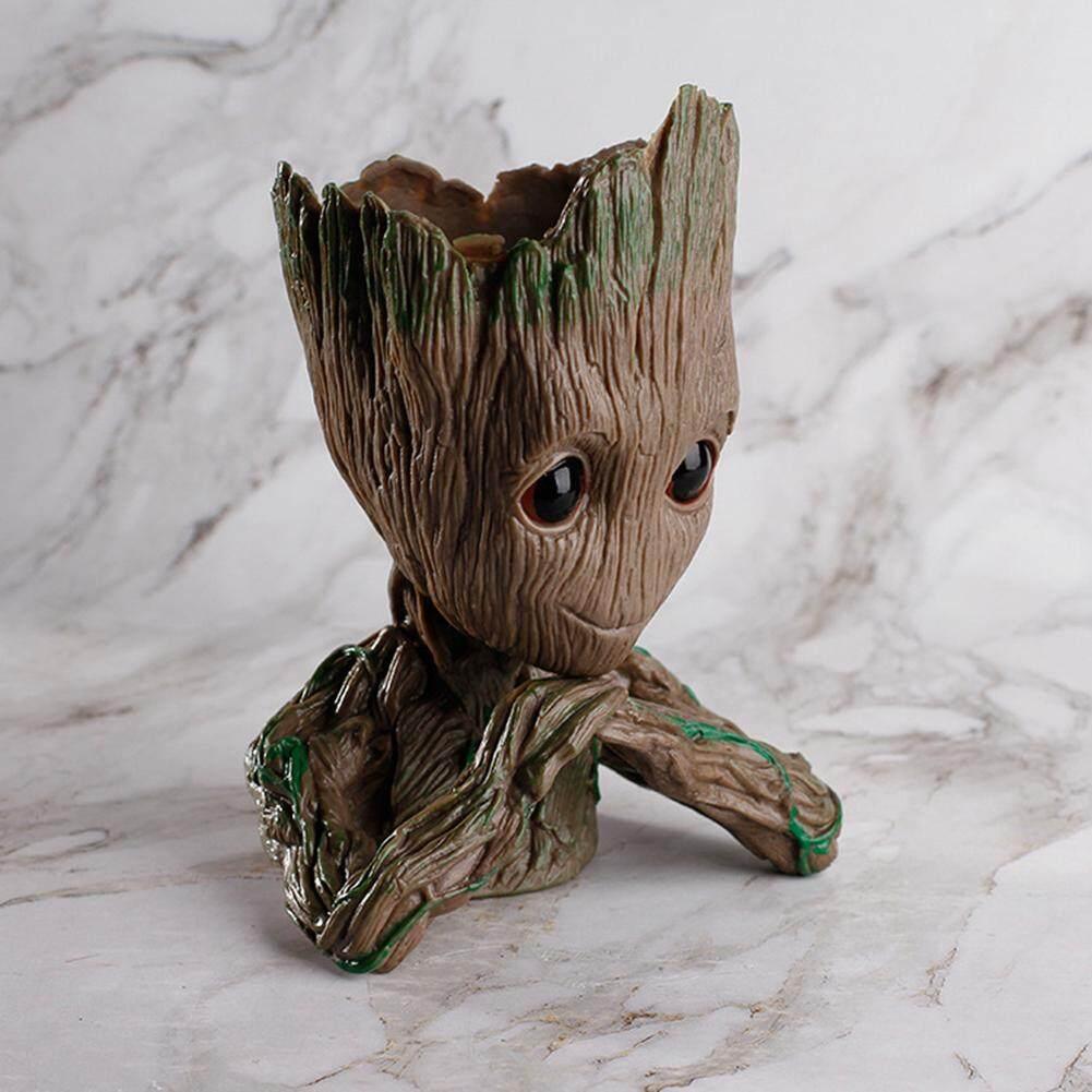 Flowerpot Tree Man for Galaxy Sitting & Groot Tree Monster Men Model PVC Case Car  Garage Kits