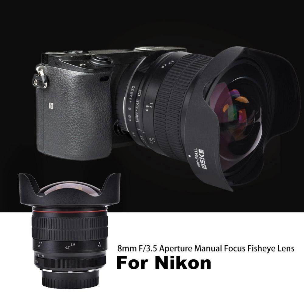 Meike MK-8mm F/3.5 Manual Fokus Mata Ikan Sudut Lebar Lensa untuk Kamera DSLR (untuk Nikon)-Intl