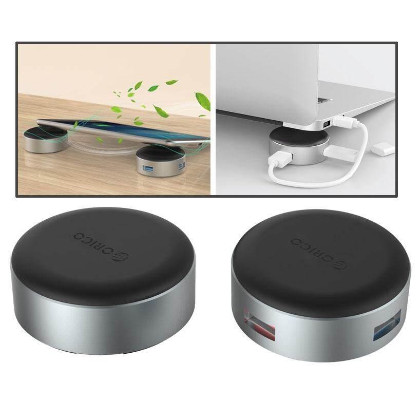 Hình ảnh 2 PCS/Set ORICO ANS1 Portable Aluminum Alloy 3 Ports USB 3.0 Hub Laptop Stand Holder with 20cm USB Cable - intl