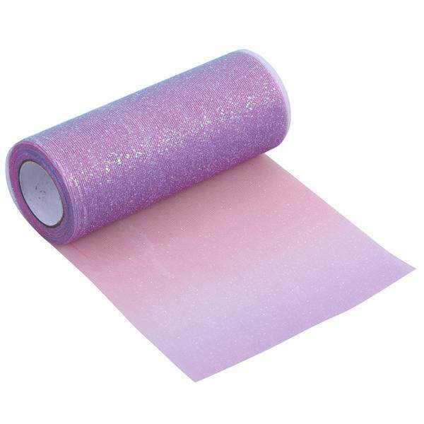 Hình ảnh Colorful Glitter Tulle Roll Coil Tutu Wedding Ornaments Organza Fabric DIY Crafts Birthday Supplies Gauze Roll - Size 15cm * 10yards (Deep Red, Deep Purple and Deep Blue) - intl