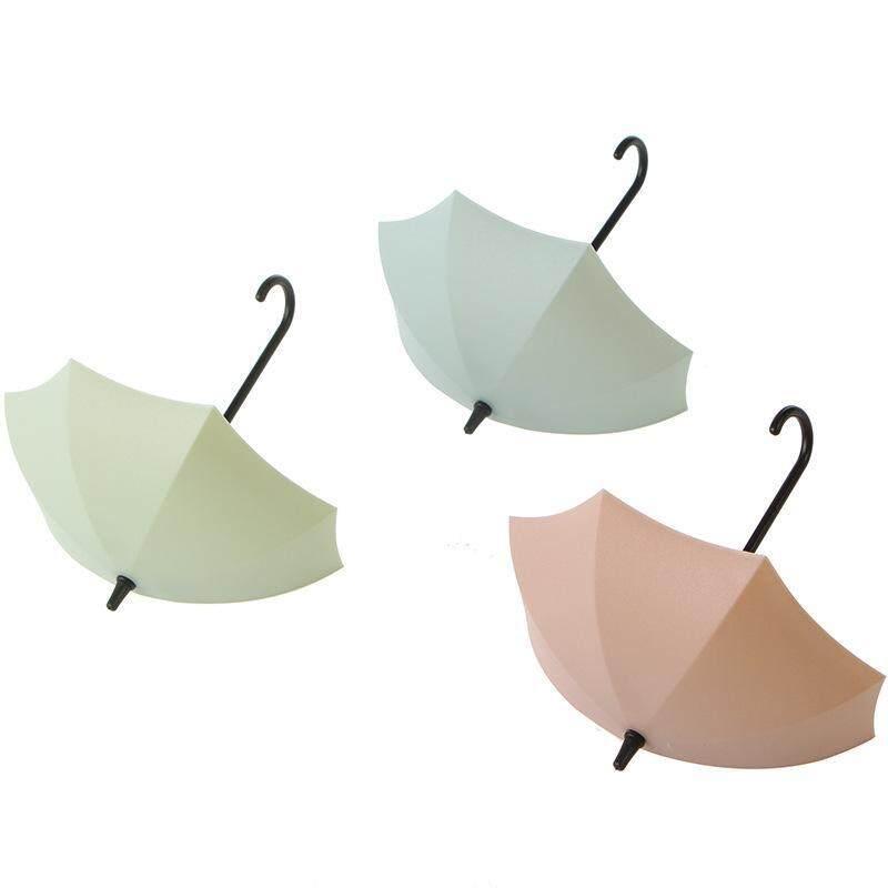 Habuy 3pcs/lot Umbrella Shaped Creative Key Hanger Rack Home Decorative Holder Wall Hook For Kitchen Bathroom Accessories