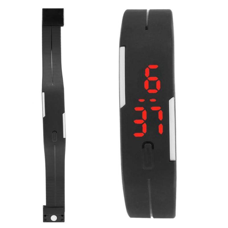 5Colors Children Electronic Digital Wrist Watch Plastic Band Rectangle Wristwatch Malaysia