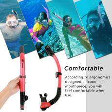 WHALE Underwater Water Sports Swimming Diving Snorkeling Silicone Breathing Tube (Red) - intl