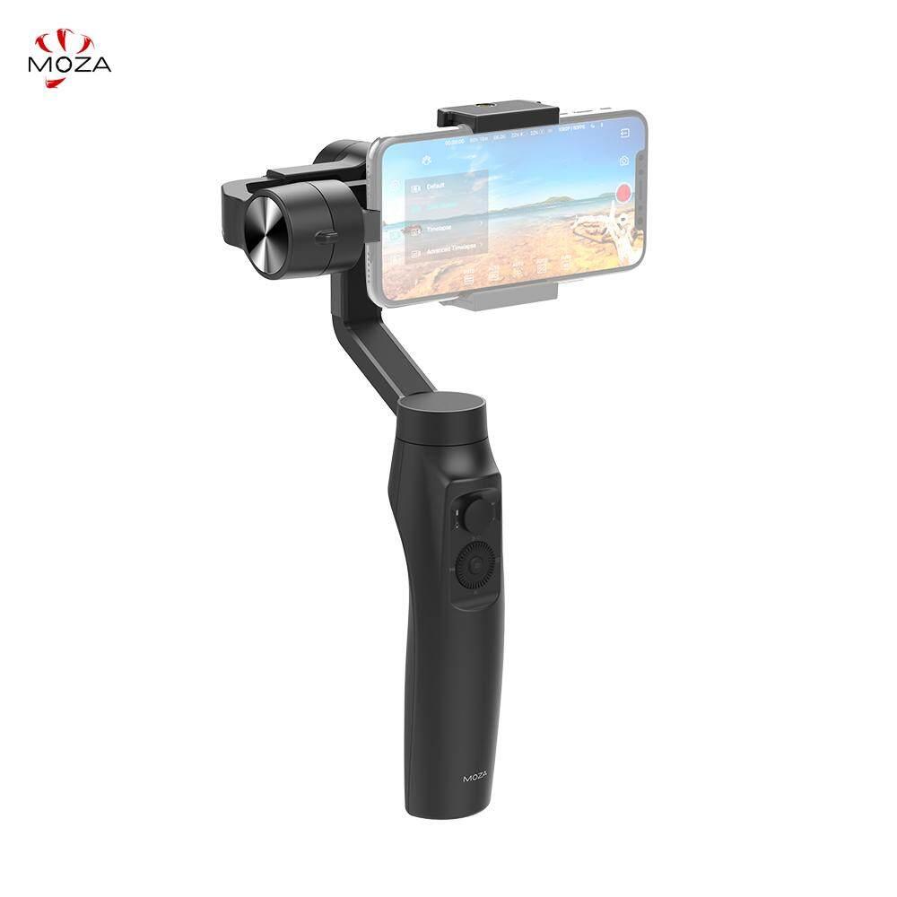 Moza Mini-Mi 3-Axis Stabilizer Gimbal Smartphone WIRE-Telepon Kurang Pengisian Beberapa Mata Pelajaran Deteksi 360 ° Rotasi Awal mode Menakjubkan Motion Timelapse untuk iPhone X 8 7 Plus 6 Plus Samsung Galaxy