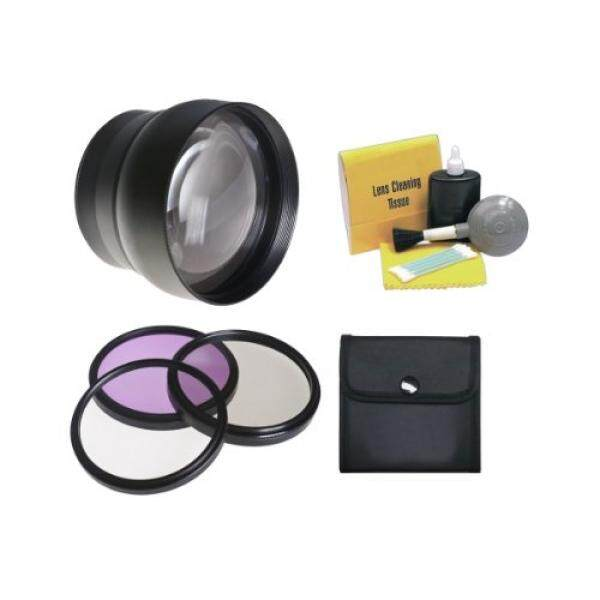 Nikon Coolpix P610 High Definition Super Telephoto Lens + 62mm 3 Piece Filter Kit + Lens Adapter Ring + Nwv Direct 5 Piece Cleaning Kit