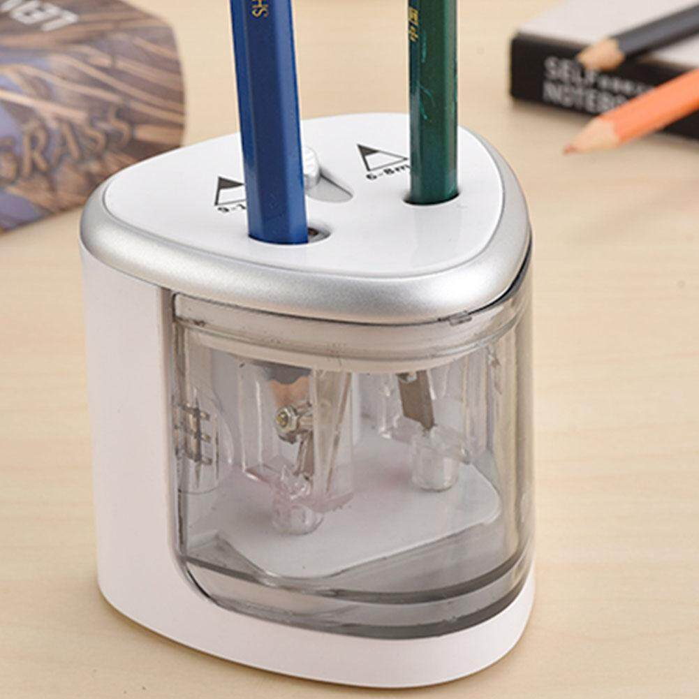 RD Automatic Two-hole Electric Pencil Sharpener Home Office School Supplies