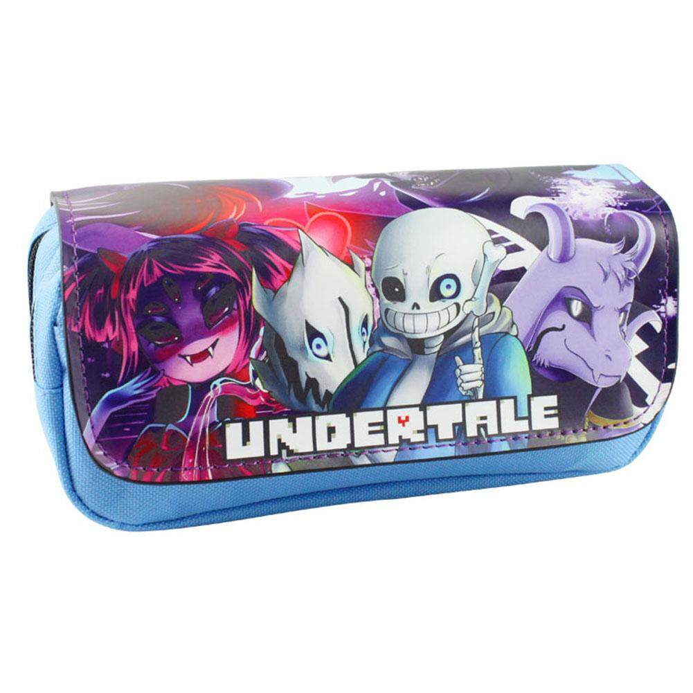 Features 1pc Undertale Pencil Case Student Double Layered Zipper Tempat Pinsil Dan Stationary Wallet Stationery Bag