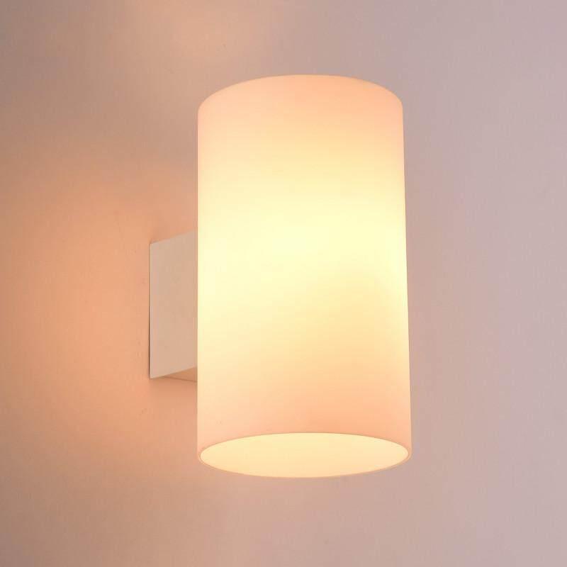 LED Wall Lamp Nordic Bedroom Bedside Lamp Modern Minimalist Glass Living Room Aisle Staircase Wall Lamp (send 3W Warm Light Bulb) - intl Singapore