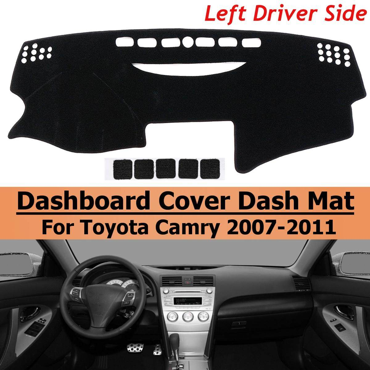 Black Left Hand Dash Cover Dashboard Mat Carpet For To*yo*ta Camry 2007-2011 By Audew.