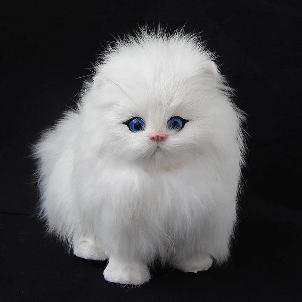 Hossen_Plush Mô Phỏng Mèo Điện Tử Thú Cưng Búp Bê Giả Chơi Động Vật với Meow Âm Thanh Chức Năng Trẻ Em Thú Cưng Mô Hình Đồ Chơi Quà Tặng Giáng Sinh