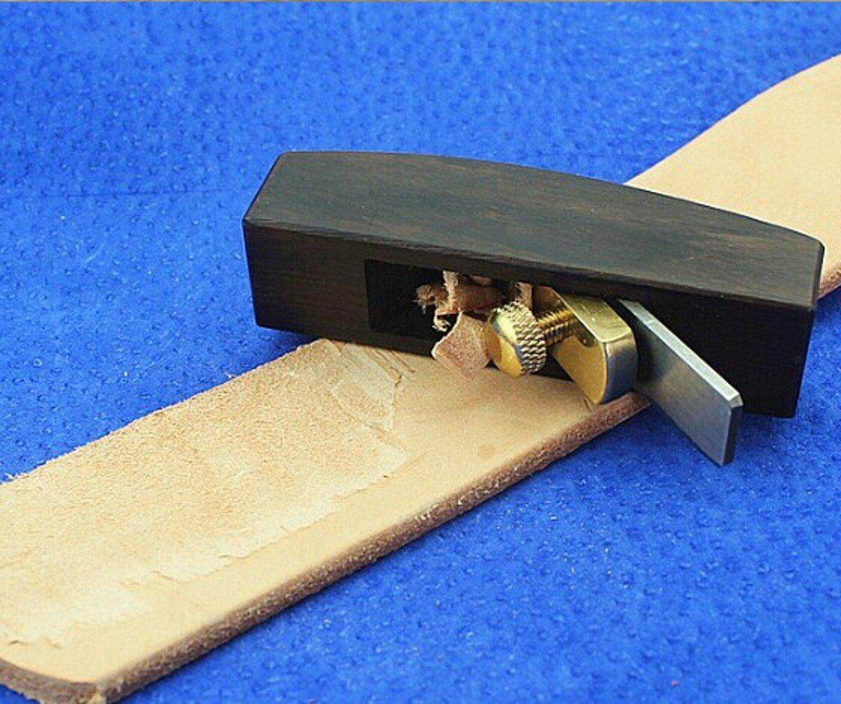 Mini Leathercraft Safety Skife Curved Leather Skiver Plane