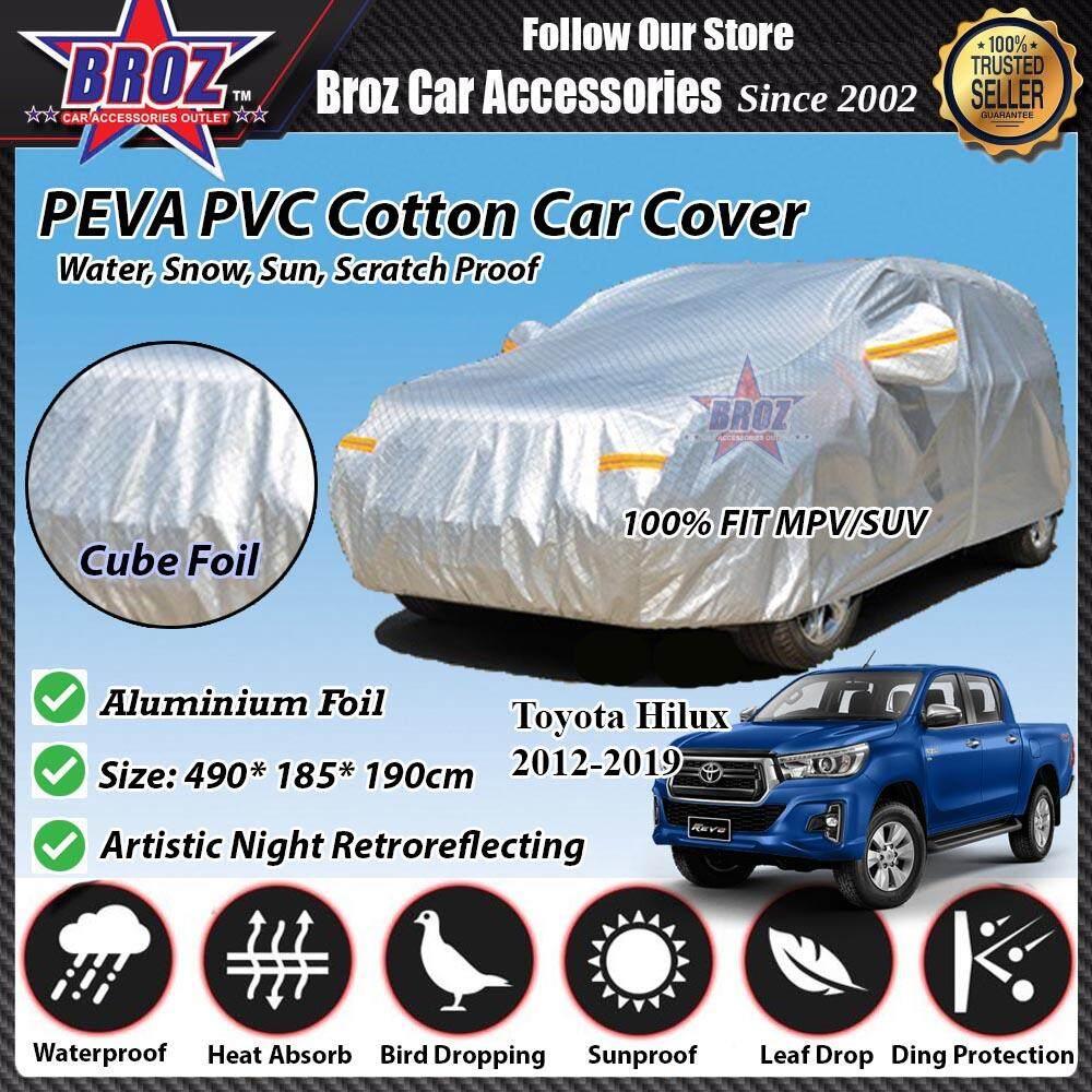 Toyota Hilux Car Body Cover PEVA PVC Cotton Aluminium Foil Double Layers - MPV 2