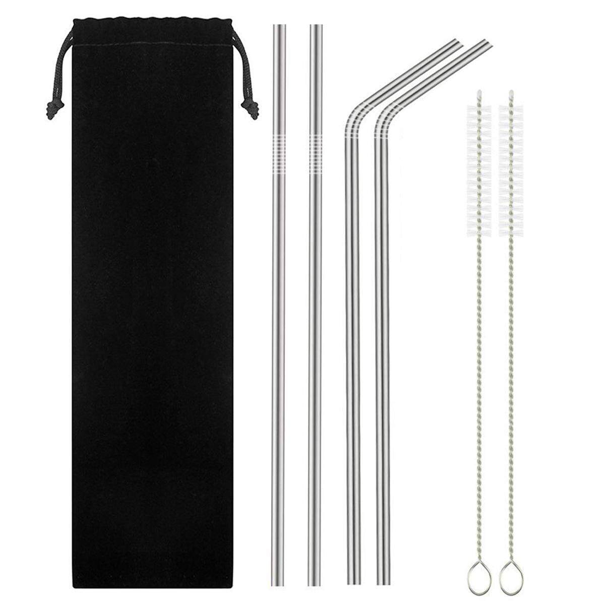 leegoal Stainless Steel Straws, Reusable Metal Drinking Straws For Cocktail, Smoothie, Hot Drinks, Yeti RTIC Tumbler Rambler Cups