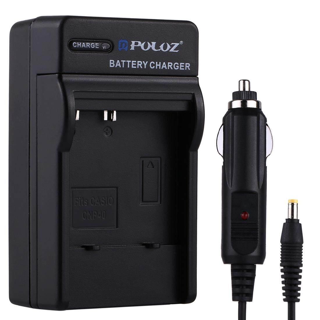 Puluz Kamera Digital Pengisi Daya Baterai Mobil UNTUK Casio CNP40-Intl