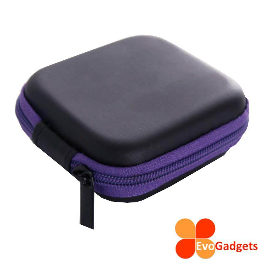 EvoGadgets Mini Multipurpose Earphone Case (Purple)