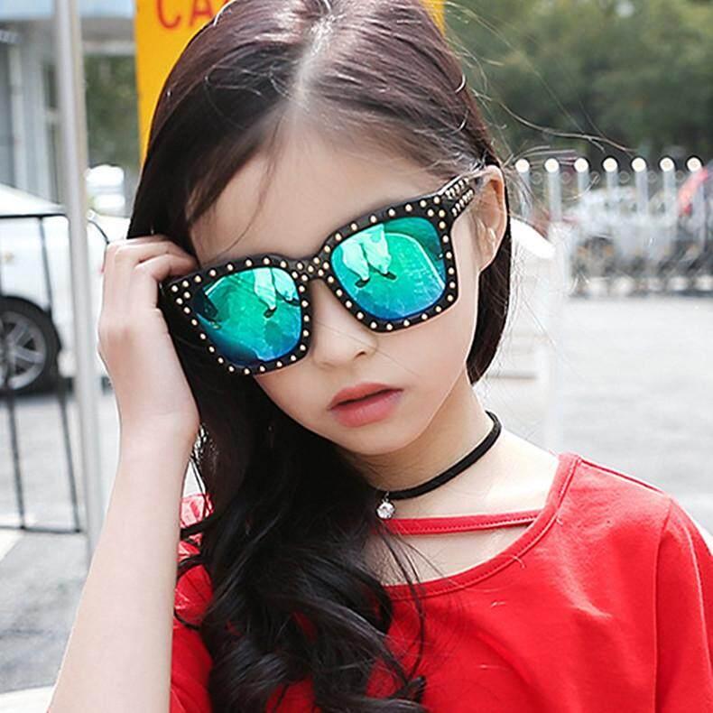 f0dd5ed679 Big Frame Children Sunglasses Trendy Rivet Design Boy Girls Summer Shades  Goggles