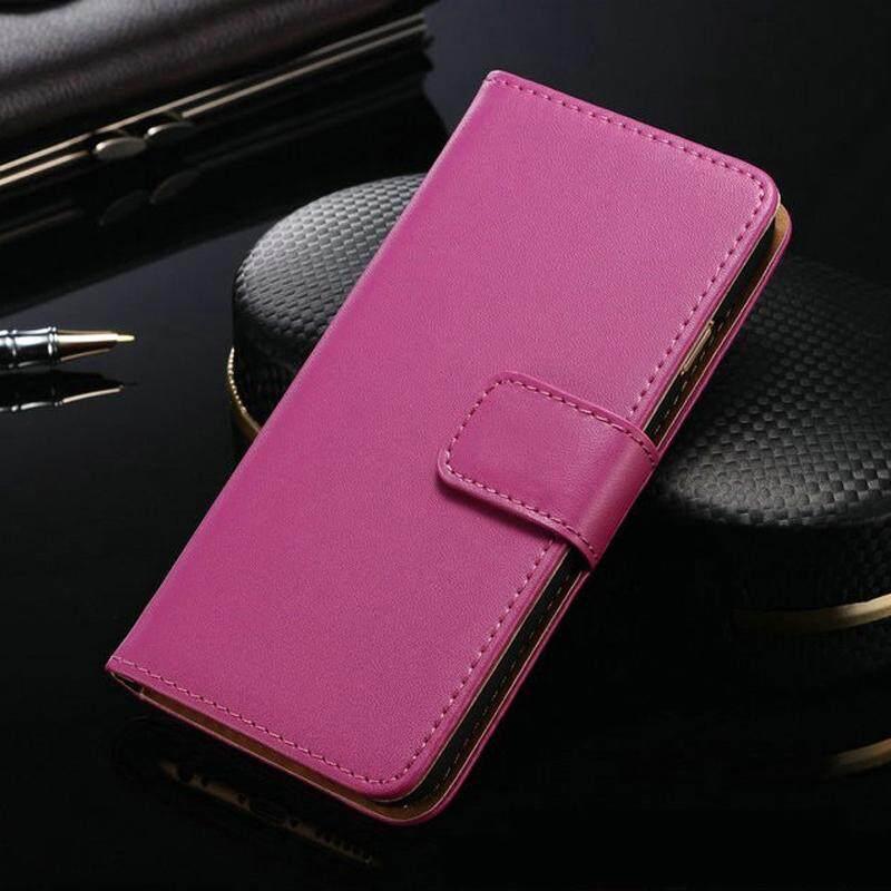 Lipat Dompet Case untuk Huawei P8 Lite 2015 Kanvas Kulit PU Tas Telepon Sarung Case untuk Huawei P8 Lite 2015 dengan Slot Kartu Case-Internasional