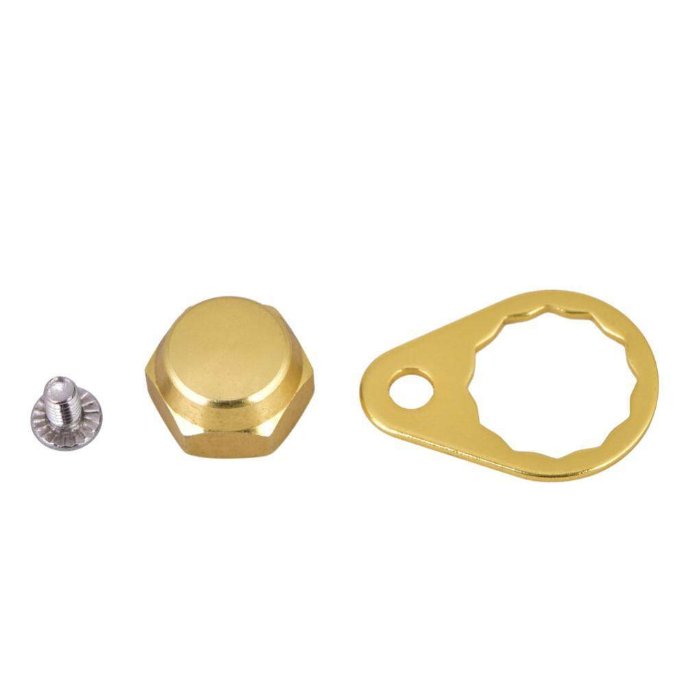 Fishing Reel Handle Locking Plate Screw Nut Cap DIY Accessory for Daiwa (Gold-Right Hand)