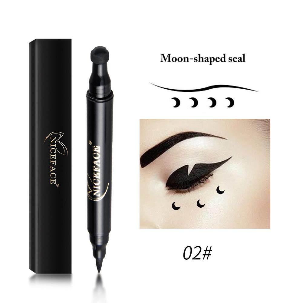 Seksi Mata Eyeliner Cair Stamp Pensil Tahan Air Cepat Kering Mata Pena Liner dengan Hati Bulan