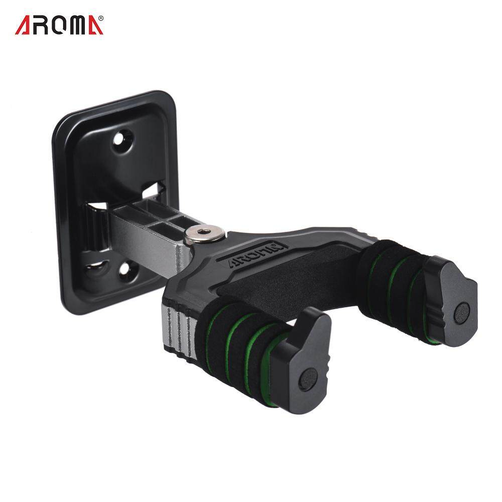 AROMA Musical Instrument Hanger Hook Holder Wall Mount with Sponge Cushion for Acoustic Electric Guitar Bass