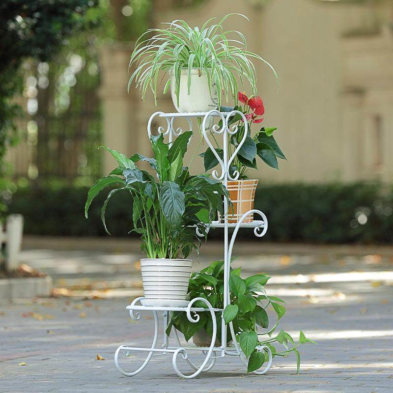 Mwt1 Iron Art Flower Stand Floor-Type Flowerpot Shelf Multilayer Indoors And Outdoors European Style Living Room Terrace/patio Scindapsus Shelf By Taobao Collection.