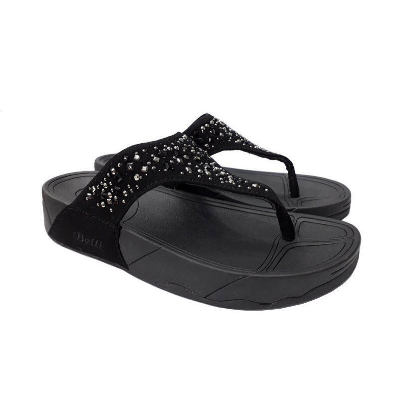 Belli Flip Flops Shoes HS55248 Colour Black/Brown