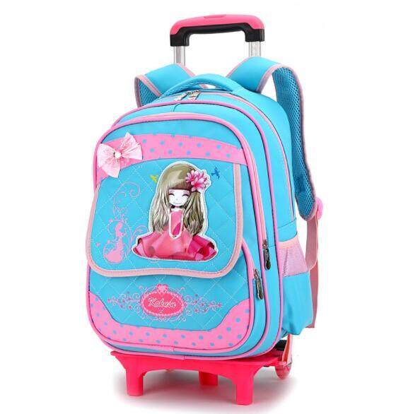 Primary School Trolley Children Removable Backpack GTO2