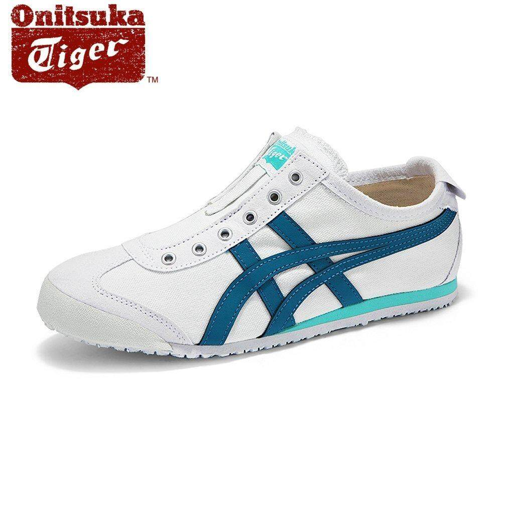 Onitsuka Tiger Womens Mexico66 Slip-on D3K5N-0146 White/Turkish Blue
