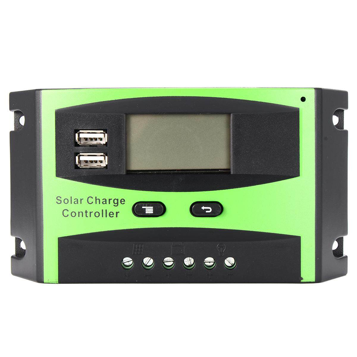 30A 12/24V Auto Wind Solar Energy Charge Controller LCD Display Home Improvement