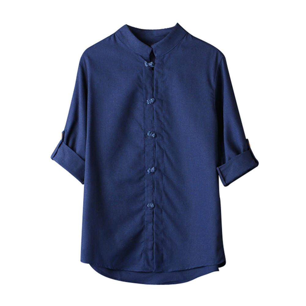 66119d799 Free Shipping Men Classic Chinese Style Kung Fu Shirt Tops Tang Suit 3/4  Sleeve