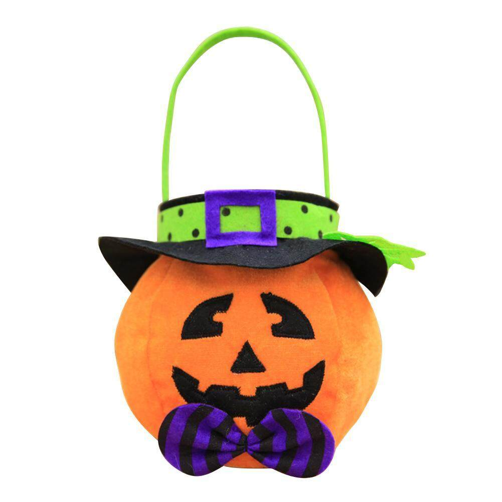 Diy 3d Halloween Pumpkin Trick Sacks Handbag Non-Woven Gift Bag Party Decor By Companionship.