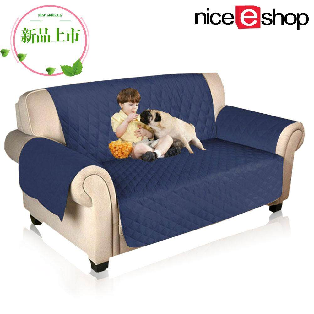 Nicee 2 Seater Sofa Slipcovers Professional Non Slip Quilted Pet Protector Cover Reversible