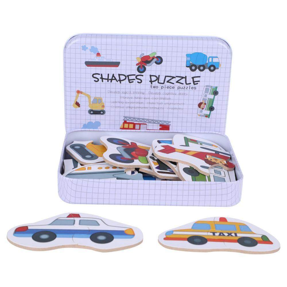 Hình ảnh Educational Wooden Puzzle Children Early Learning Toy Set with Container - intl
