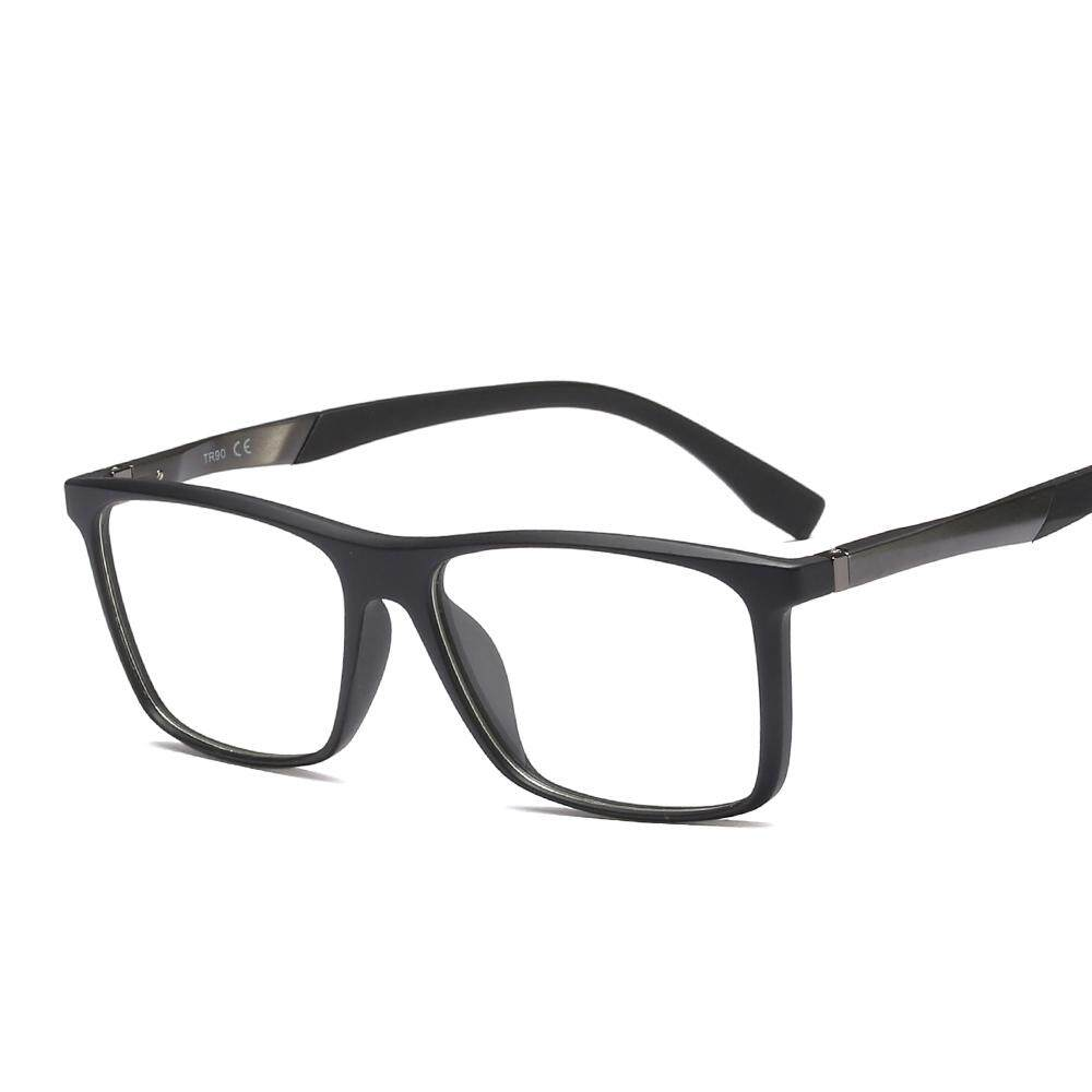 68f5c74259 Rectangle Eyeglasses Frame Optical Women Clear Lens 2019 High Quality  Fashion TR90 Glasses Men Optical Matte