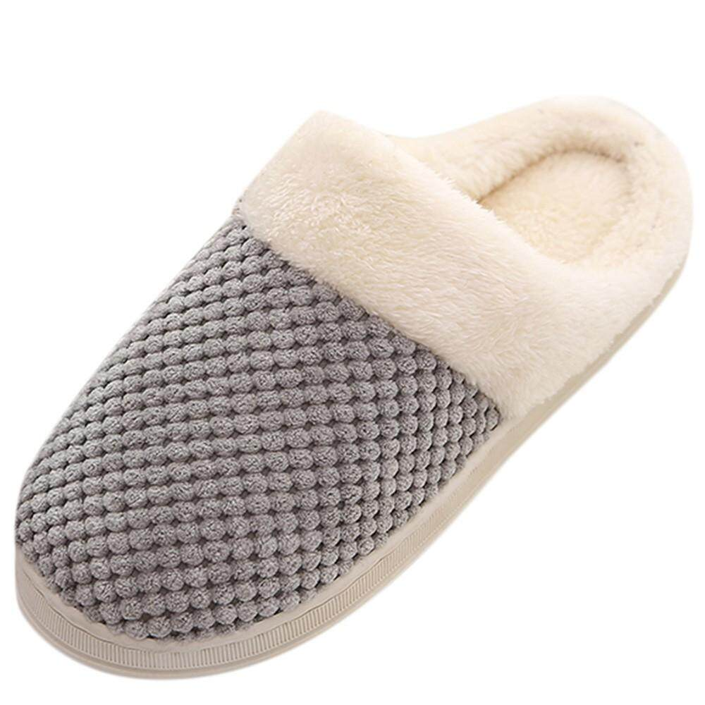 91ff9e02cc99 (Free Shipping) JENESTROTRESMen Warm Home Plush Soft Slippers Indoors Anti- slip Winter Floor