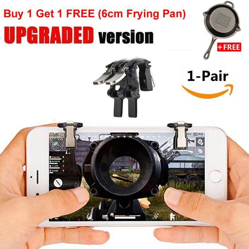 CCYP 1Pair Best Metal Transparent Gaming Trigger L1R1 Mobile Phone PUBG  Fire Button Shooter Controller for PUBG Rules of Survival,Last Battle  Ground,