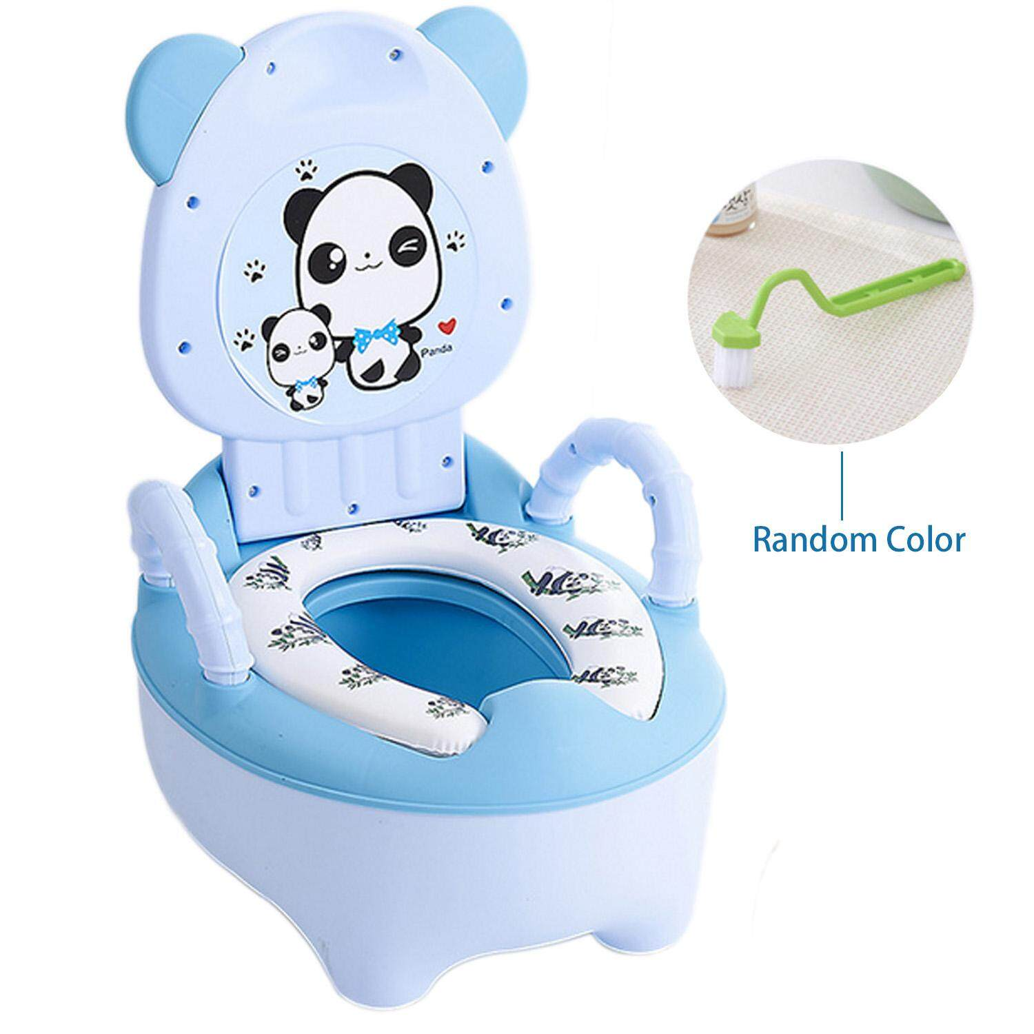 Cute Cartoon Multi Functional Drawer Style Kids Baby Potty Chair With Handrails Soft Cushion Safe Kids - Intl By Elek.
