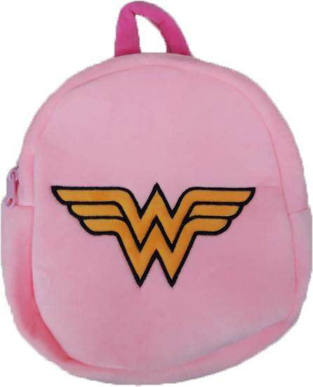 Justice League Wonder Woman Logo Plush Backpack