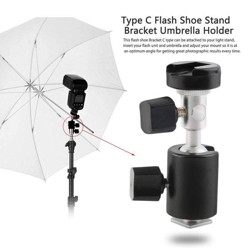 EVOL 360掳 Swivel Type C Flashlight Umbrella Holder Light Stand Bracket for Canon