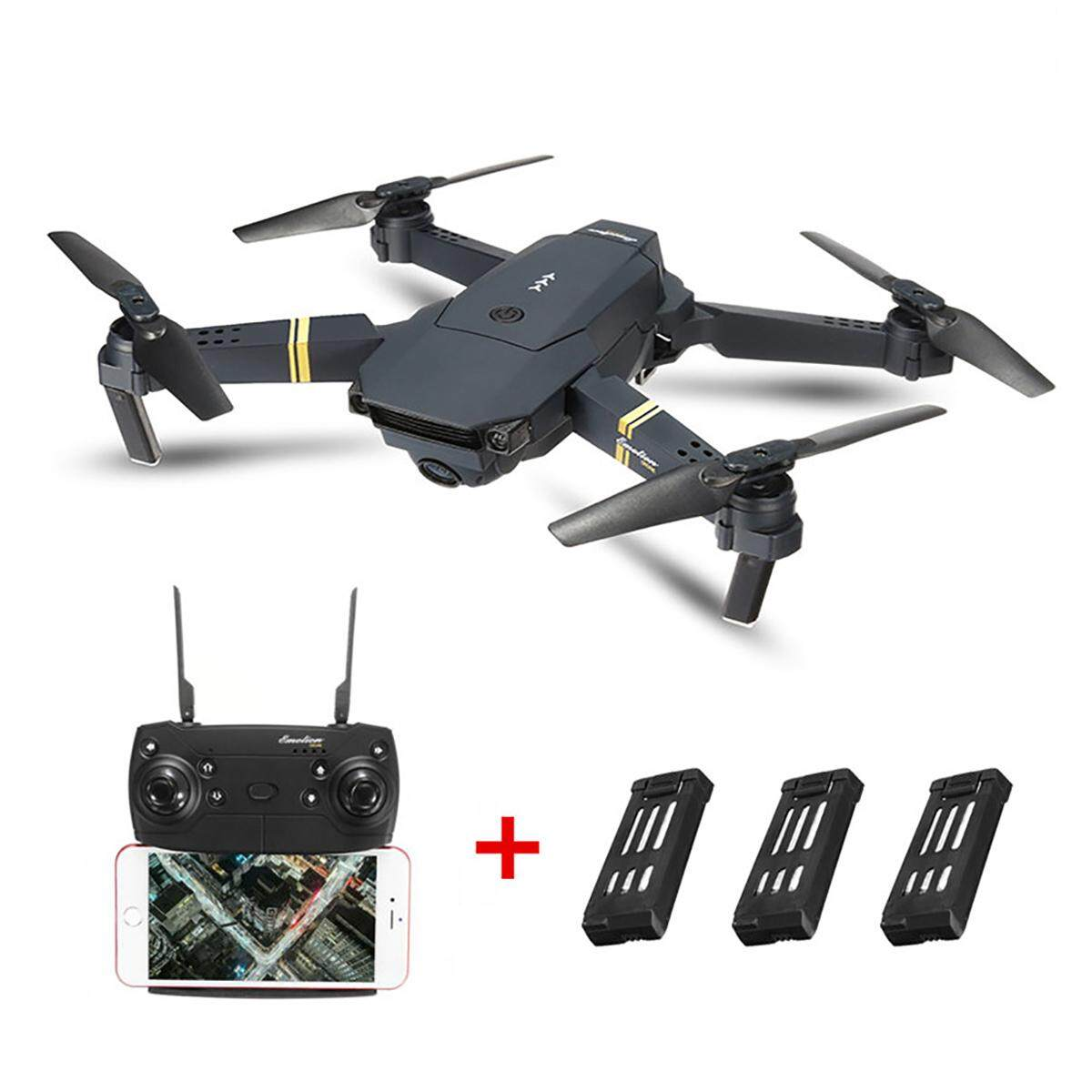 Eachine E58 Wifi FPV dengan 0.3MP Kamera Tinggi Tahan Mode Lipat Drone RC Quadcopter RTF