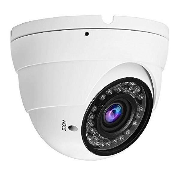 Hykamic Kamera CCTV Analog HD 1080 P 4-In-1 (TVI/AHD/CVI/CVBS) kamera Kubah Keamanan, 2.8mm-12 Lensa Varifokal Mm, Benar Day & Night Pemantauan IP66 (Putih)-Intl