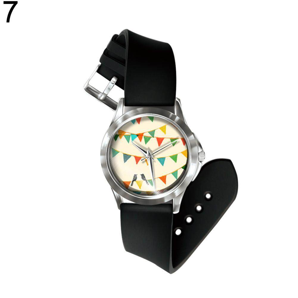 Sanwood® Cartoon Animal Boys Girls Faux Leather Band Analog Display Quartz Wrist Watch (7#) Malaysia