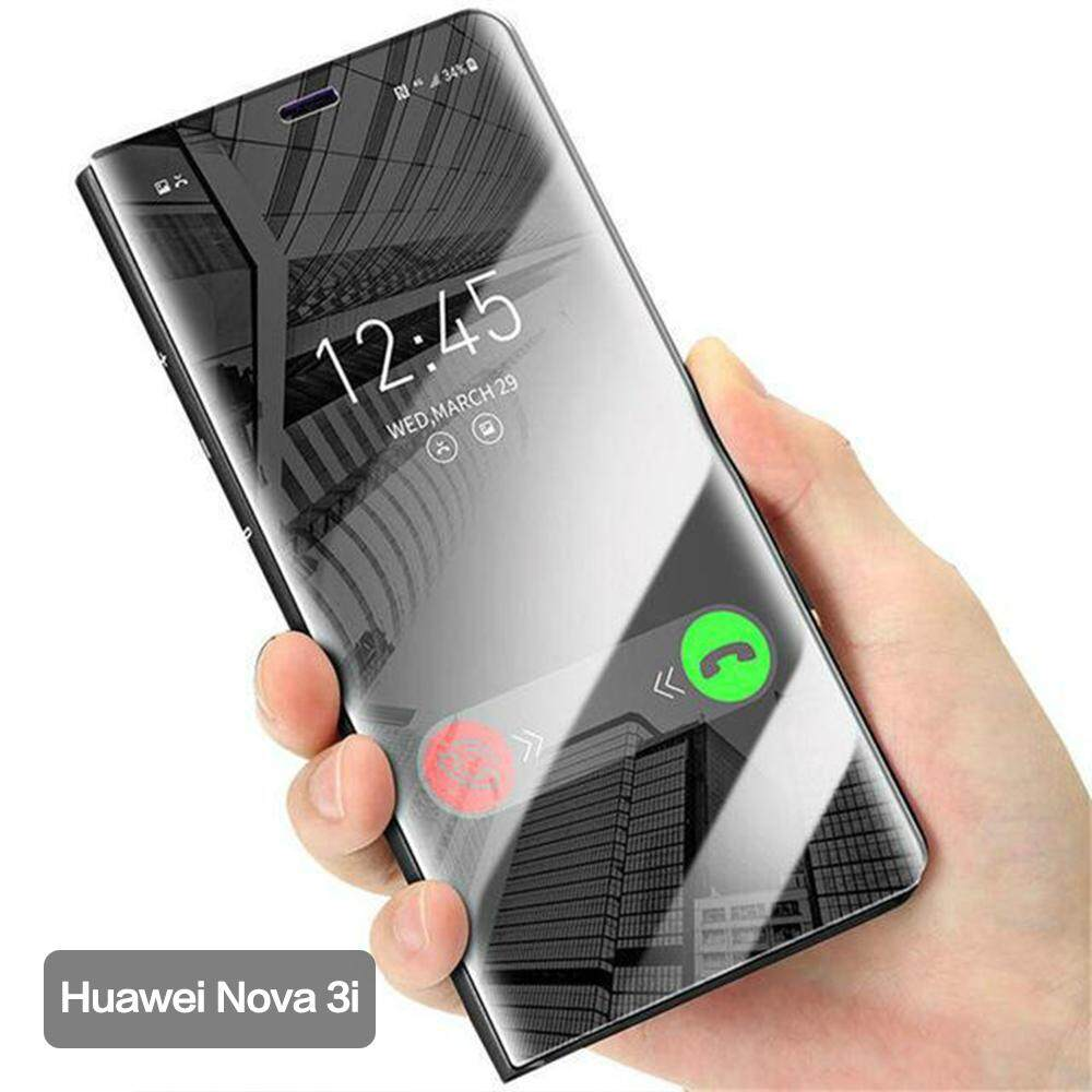 Hình ảnh Huawei Nova 3i Cover Smart Plating Mirror Flip Case for Huawei Nova 3I Cases Clear View Housing Shell